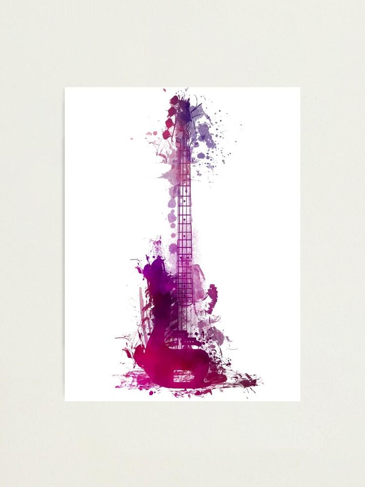 Alternate view of Funky purple guitar Photographic Print