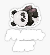 Pegatina Regalo Panda Life para los amantes de pandas