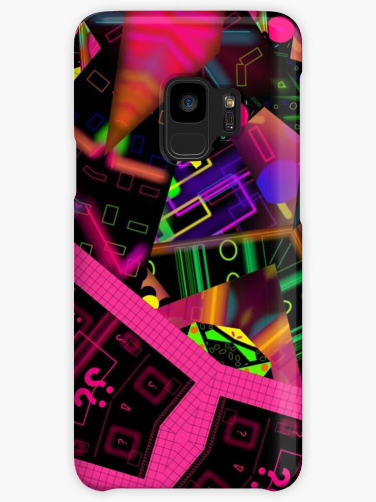 Vibrant Neon Vortex abstract 80's design collage mix mash by neonmoonwaves
