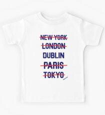 New York London DUBLIN Paris Tokyo by Francisco Evans ™ Kids Tee