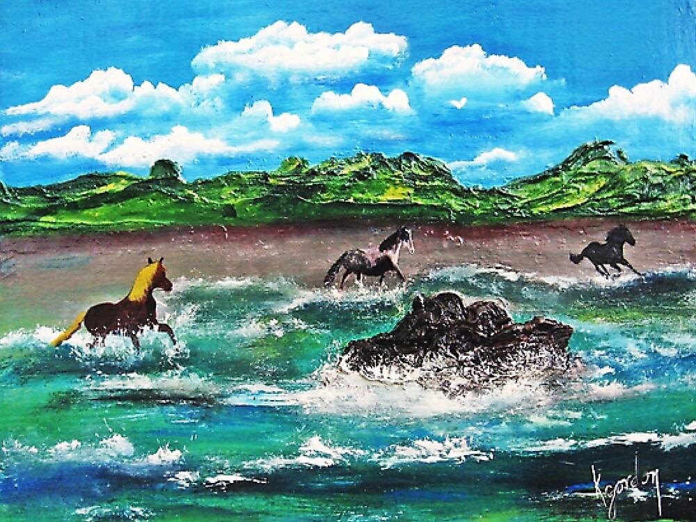 Wild (Sea) Horses...... by WhiteDove Studio kj gordon
