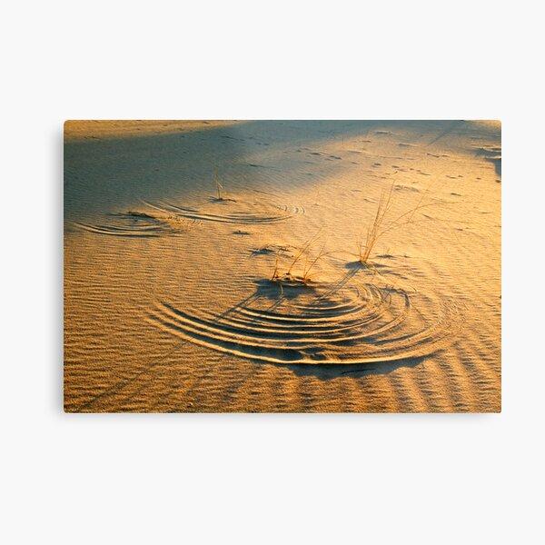 Circles in the sand Metal Print