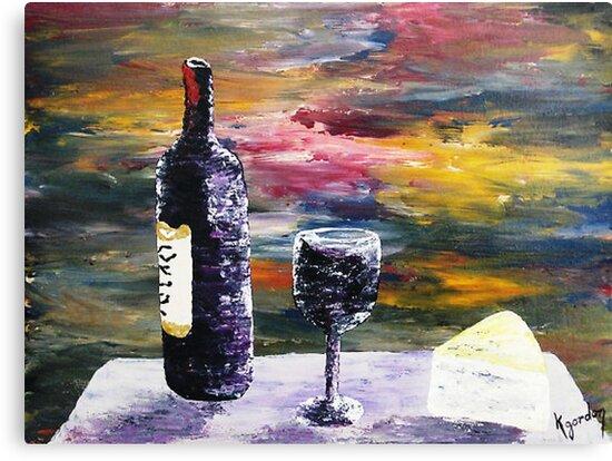 A Bottle Of Rose' by WhiteDove Studio kj gordon