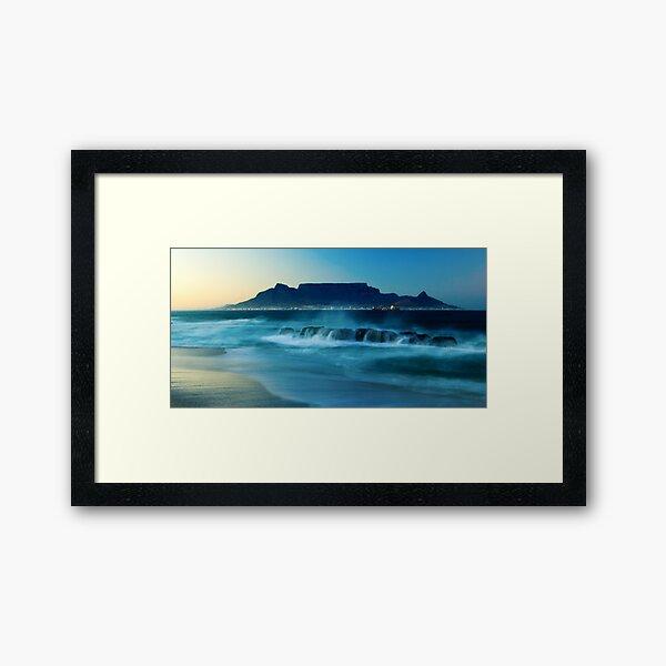 Early morning view Framed Art Print