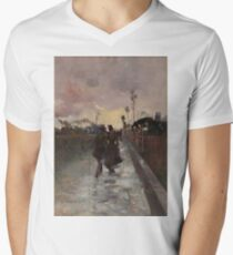 Going Home by Charles Conder Men's V-Neck T-Shirt
