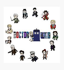 Doctor Who: All Fourteen! Photographic Print