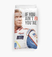 "Will Ferrell Talladega Nights Ricky Bobby ""If You Ain't First You're Last"" Duvet Cover"