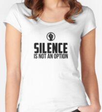 Silence Is Not An Option | Protest | African American Women's Fitted Scoop T-Shirt