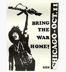 """""""Bring das Kriegshaus!"""" Chicago 1969 Tage der Wut Demonstrationen Poster"""
