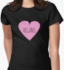 VEGAN LOVE Women's Fitted T-Shirt