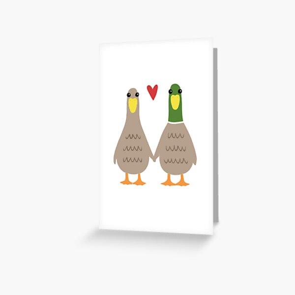 Love Ducks Greeting Card