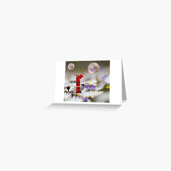 Xmas bubbles Greeting Card