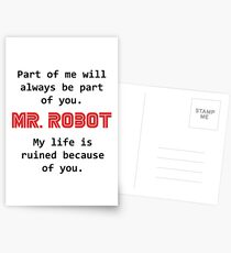mr robot Postcards