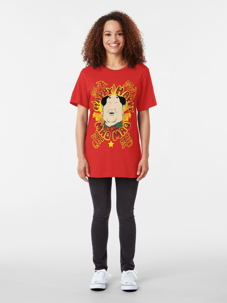Alternate view of Happy Happy Mao Mao Slim Fit T-Shirt