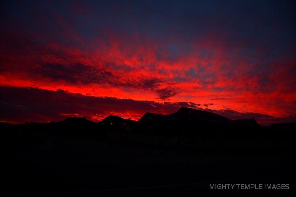 SUNSET OVER SUBURBIA II by MIGHTY TEMPLE IMAGES