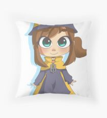 Hat Girl Throw Pillow