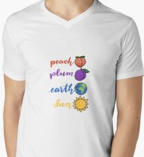 you are peach you are plum you are my earth you are my sun Men's V-Neck T-Shirt