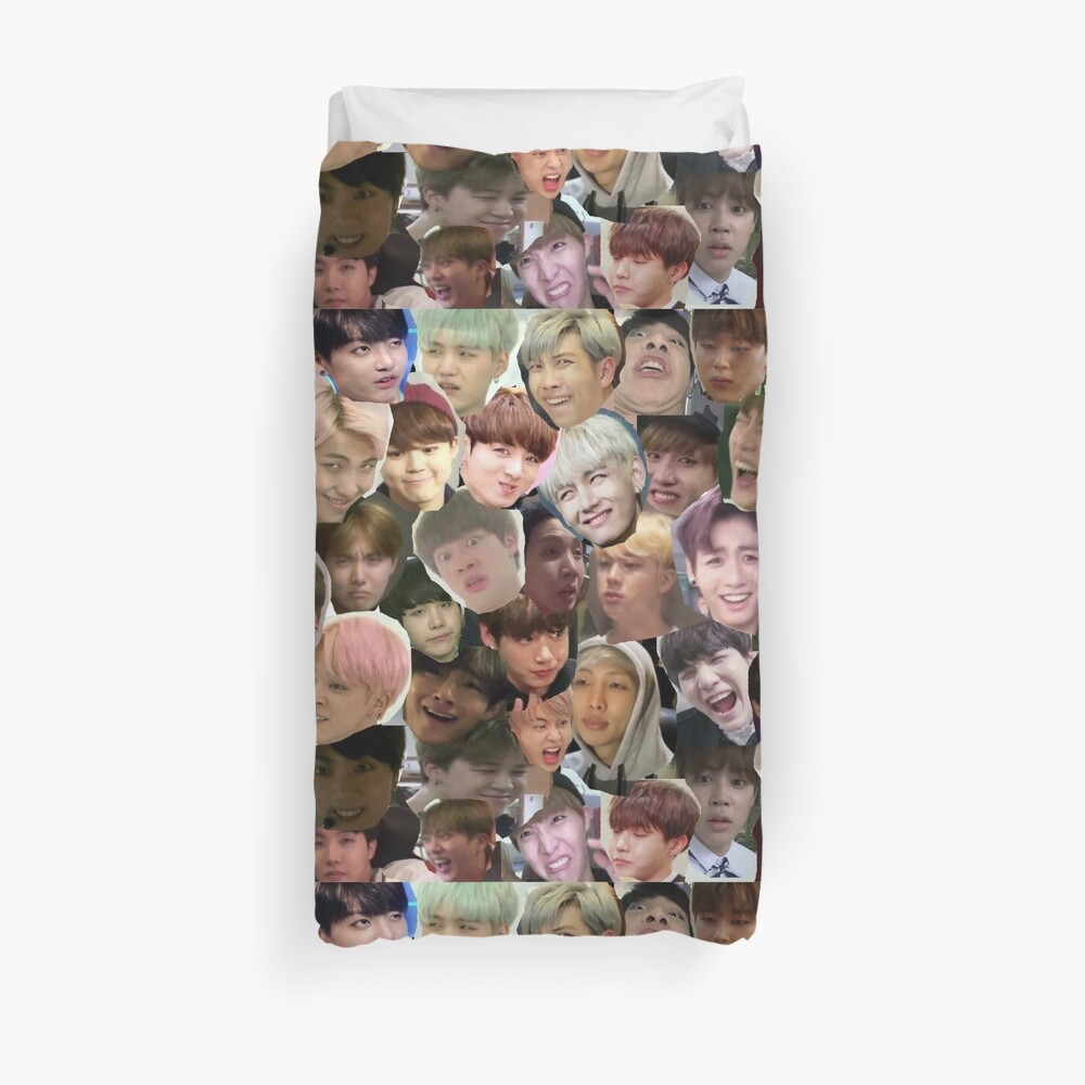 BTS - MEME FACE COLLAGE Bettbezug