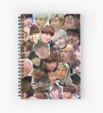 BTS - MEME FACE COLLAGE Spiral Notebook