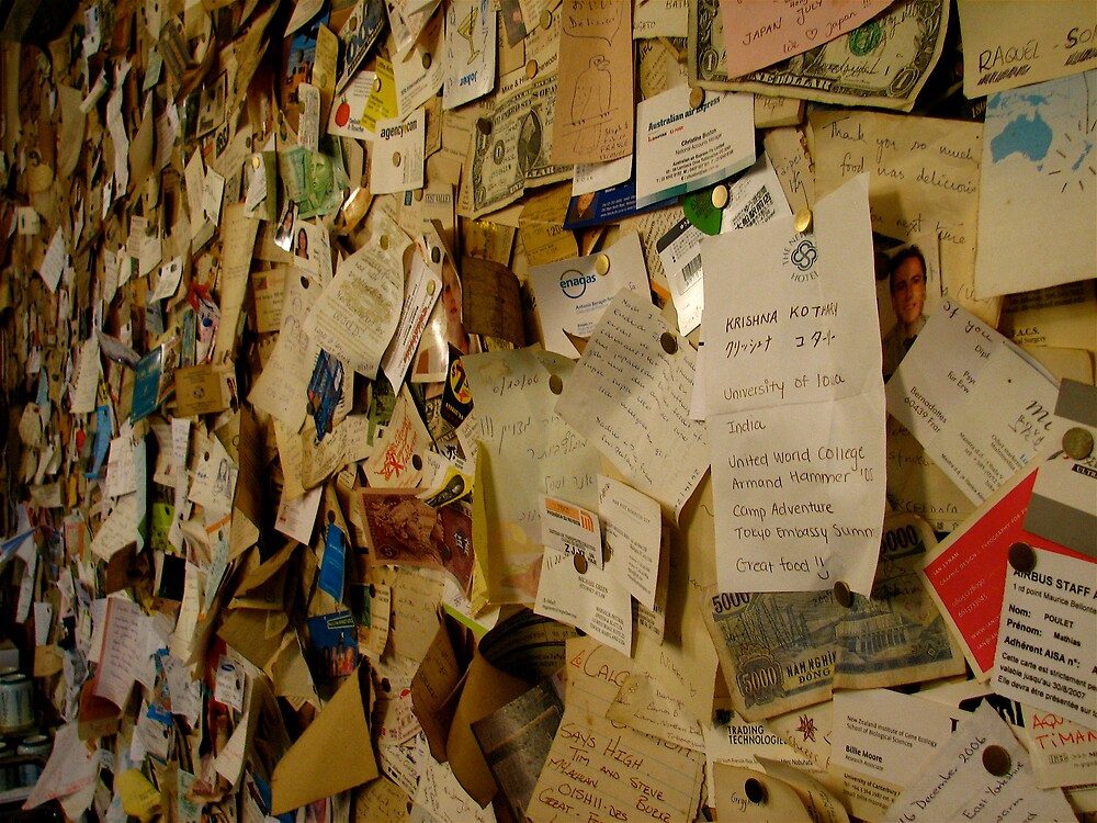 A restaurant wall, Japan by C1oud