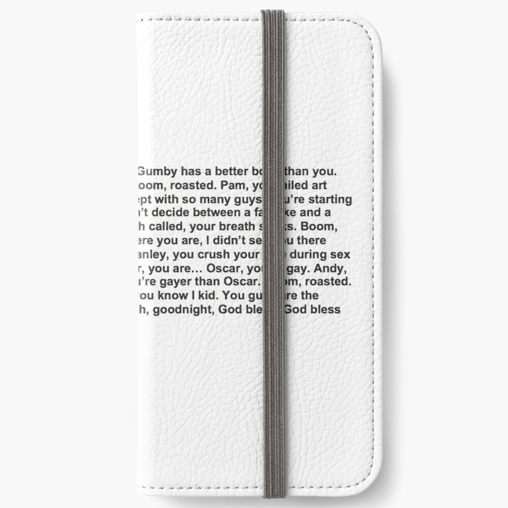 the office boom roasted iPhone Wallet