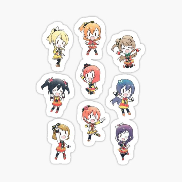 Love Live! Sunny Day Song Chibi Stickers Sticker