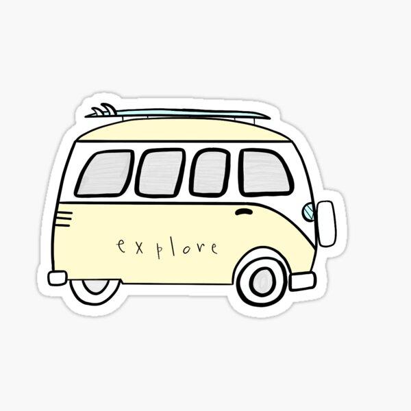 yellow explore volkswagon Sticker