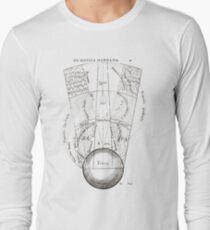 Segment, macrocosm, showing, elemental, spheres, terra, earth, aqua, water, aer, air, ignis, fire Long Sleeve T-Shirt