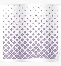 Gray triangular pattern Poster