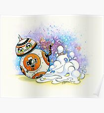 """""""BooBoo-8"""" Calico Cat BB8 Poster"""