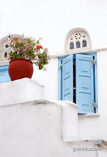 Red geranium, Tinos, greece by gumblossom