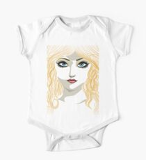 Blond girl with blue eyes One Piece - Short Sleeve