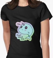 Don't Mind Me Narwhal Women's Fitted T-Shirt