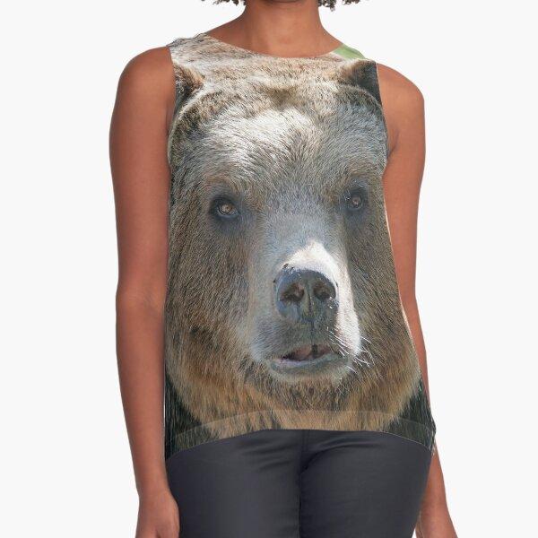 Bear, bear's face, forest bear, terrible bear, bear-to-beard Sleeveless Top