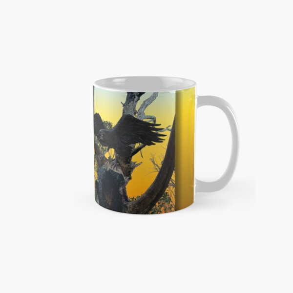 FOREST RAVEN AT SUNSET by tasmanianartist  Classic Mug