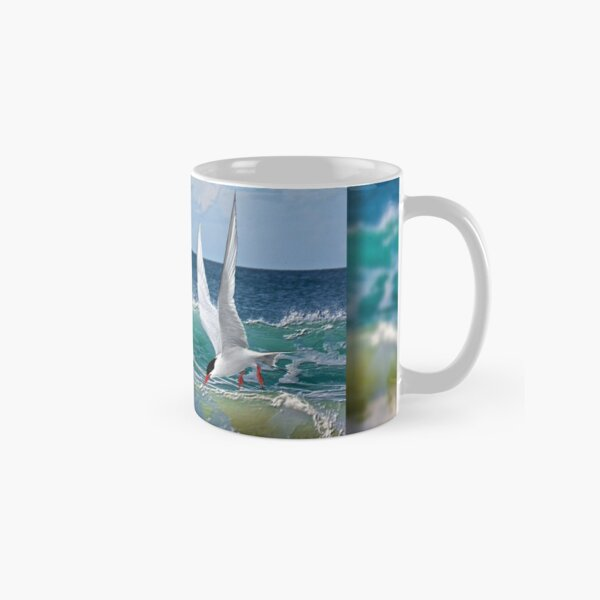 ARCTIC TERN ABOVE THE WAVES by tasmanianartist Classic Mug
