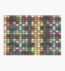 Colorful stars pattern Photographic Print