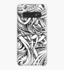 Escher Like Abstract Hand Drawn Graphite Gray Depth Case/Skin for Samsung Galaxy