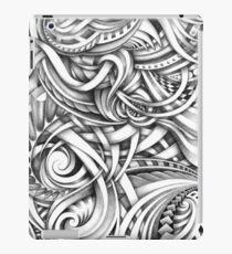 Escher Like Abstract Hand Drawn Graphite Gray Depth iPad Case/Skin