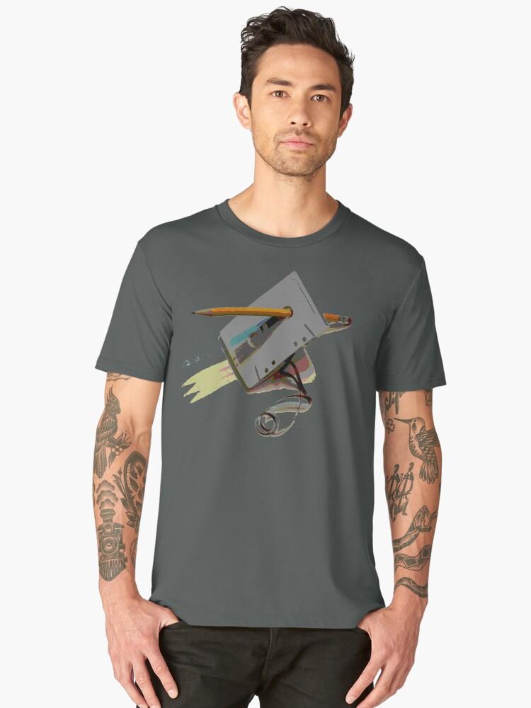 tape and pencil loose tape  Men's Premium T-Shirt Front