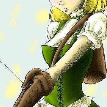 Emiliyana priestess archer by AnimeGamerGirl