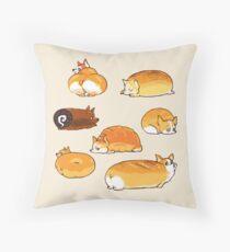 Bread Corgis Throw Pillow