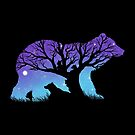 Bear Moonlight, cubs, grizzly, brown bear, nature scene by qetza