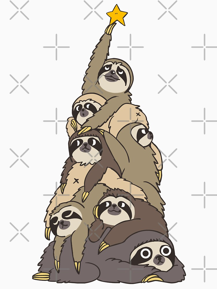 Christmas Tree Sloths by Huebucket