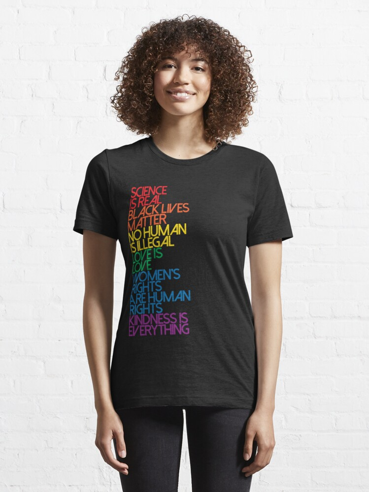 Alternate view of Science is Real Black Lives Matter Essential T-Shirt