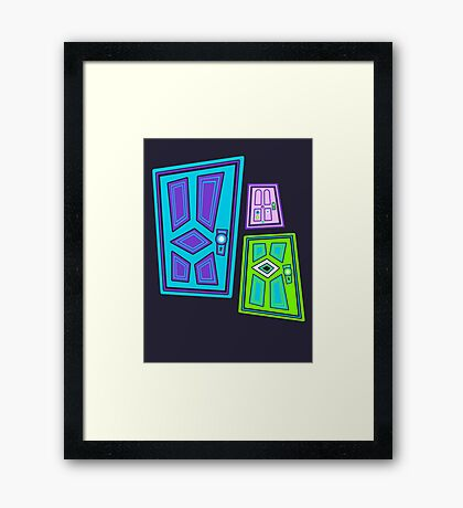 PICK A DOOR! Framed Print