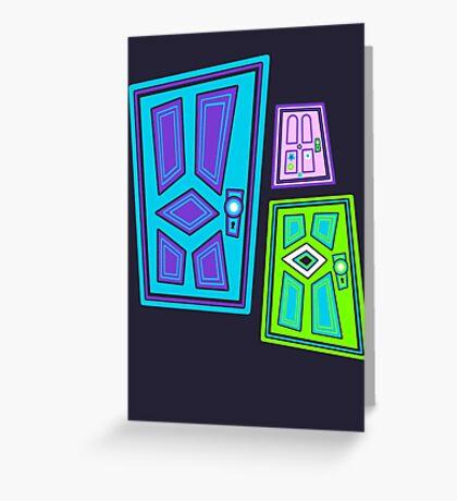 PICK A DOOR! Greeting Card