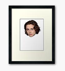 Timothee Chalamet Head Framed Print