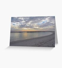 Sunset over the sea with clouds in Maldives Greeting Card