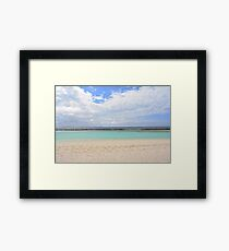 Island in the Maldives with beautiful beach and turquoise water Framed Print